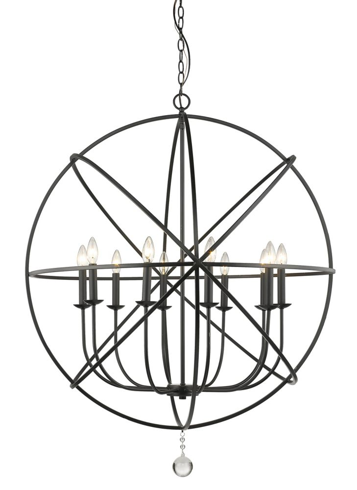 Filament Design 10-Light Matte Black Chandelier - 36 inch