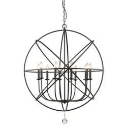 Filament Design 10-Light Matte Black Chandelier - 36 inch