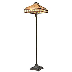 Filament Design 3-Light Java Bronze Floor Lamp with Multi-Colored Mica Shade - 17 inch