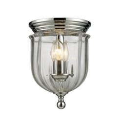 Filament Design 3-Light Chrome Flush Mount with Clear Glass Shade(s) - 8.5 inch