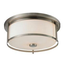 Filament Design 3-Light Brushed Nickel Flush Mount with Matte Opal Glass - 15.75 inch