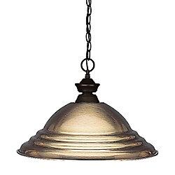 Filament Design Luminaire suspendu à 1 ampoule en bronze avec abat-jour en acier bronze antique