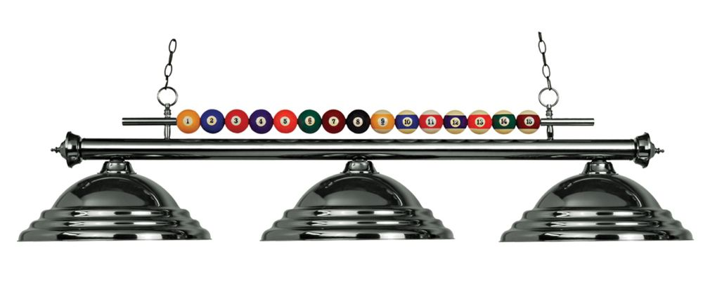 Filament Design 3-Light Gun Metal Island/Billiard with Gun Metal Steel Shade - 60 inch