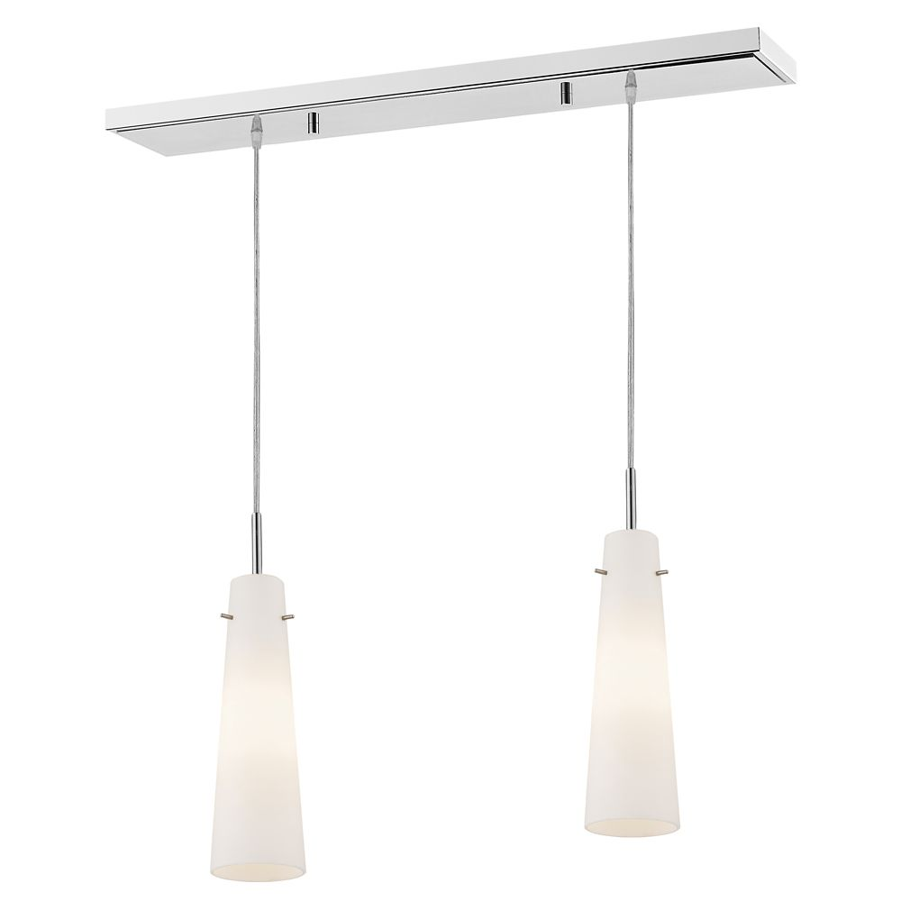 Filament Design 1-Light Chrome Island/Billiard with Matte Opal Glass - 30 inch