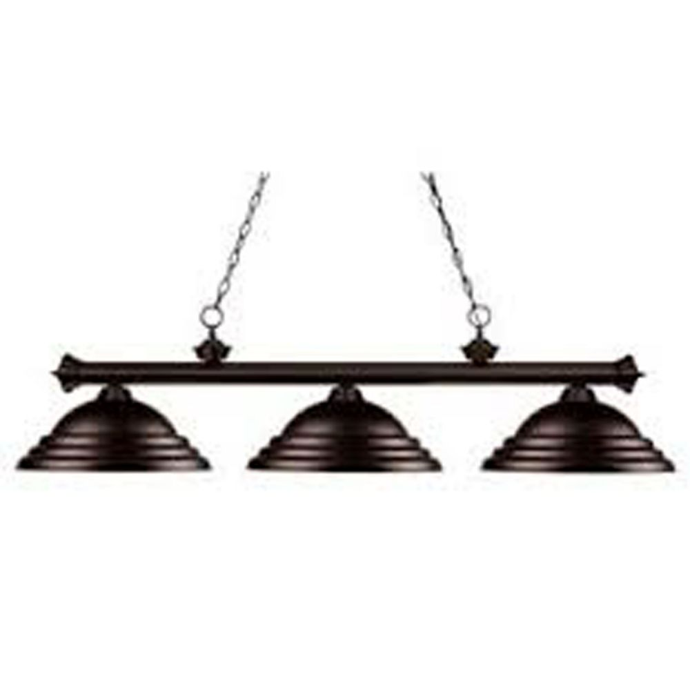 Filament Design 3-Light Bronze Island/Billiard with Bronze Steel Shade - 59 inch