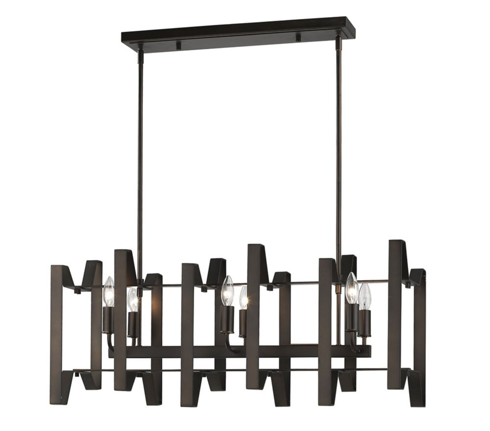 Filament Design 6-Light Bronze Island/Billiard - 34 inch