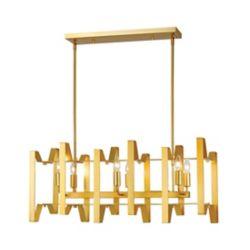Filament Design 6-Light Polished Metallic Gold Island/Billiard - 34 inch
