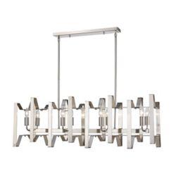 Filament Design 8-Light Brushed Nickel Island/Billiard - 44 inch
