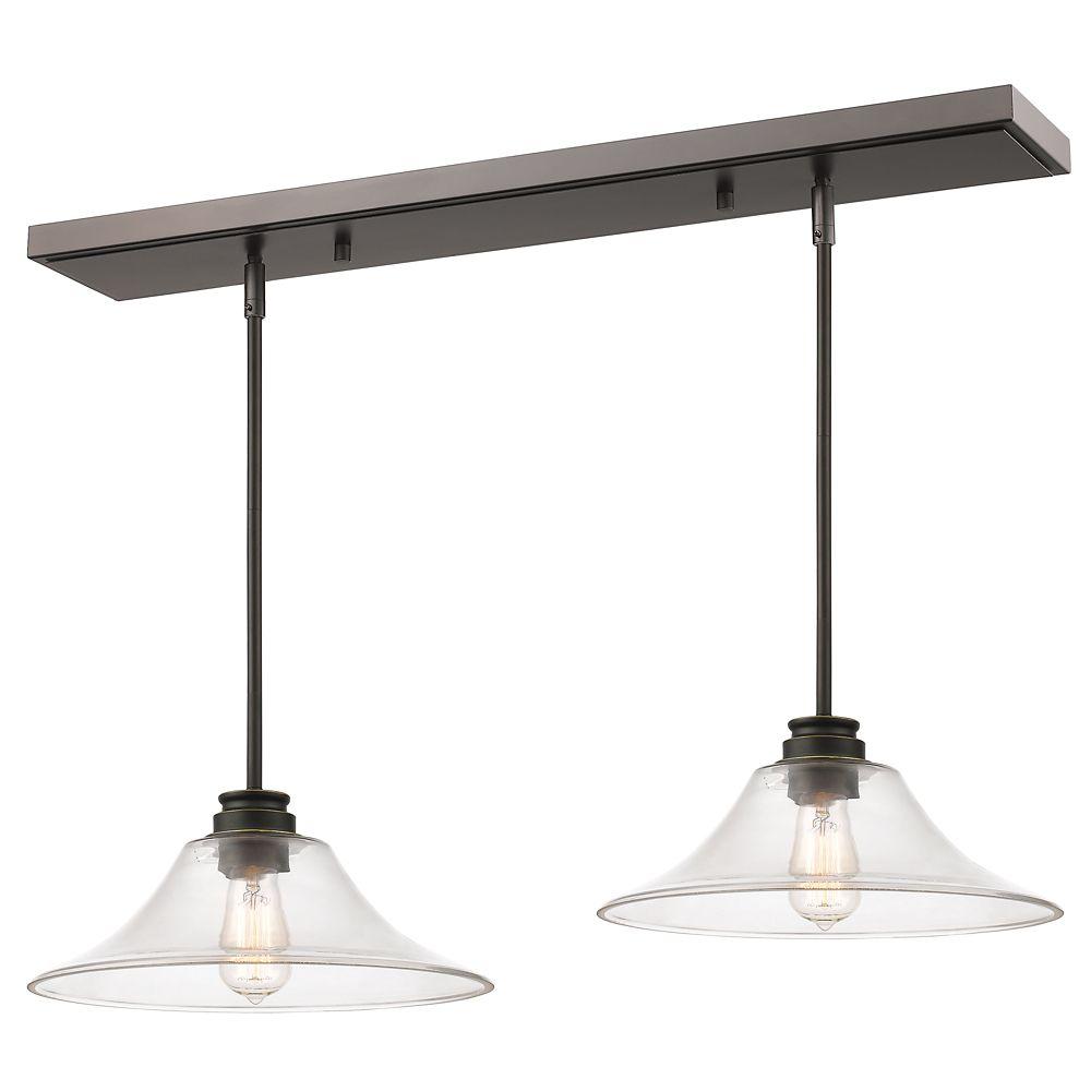 Filament Design 1-Light Olde Bronze Billiard with Clear Glass - 30 inch