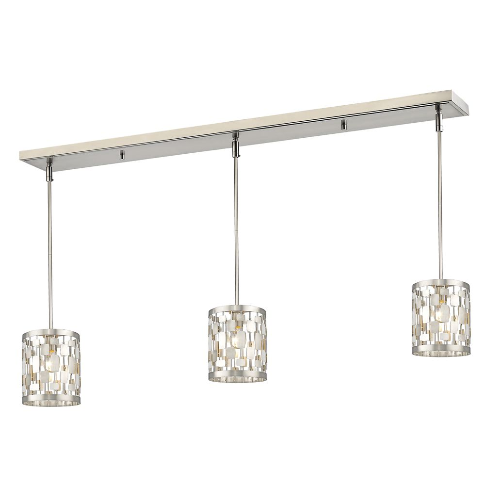 Filament Design 1-Light Brushed Nickel Island/Billiard - 48 inch