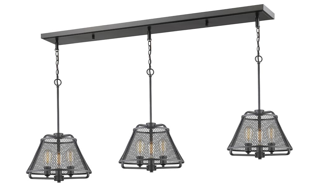 Filament Design 9-Light Bronze Island/Billiard with Bronze Steel Shade - 55 inch