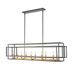 Filament Design 10-Light Bronze and Olde Brass Island/Billiard - 54 inch