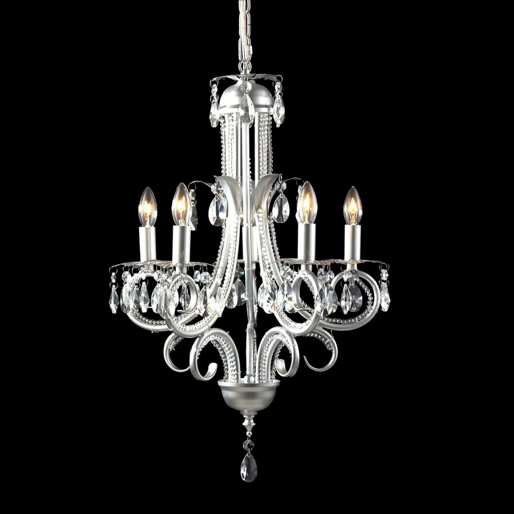 Filament Design 5-Light Silver Mini Chandelier - 14.75 inch