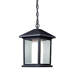 Filament Design Luminaire d'extérieur noir à 1 lumière avec verre opale opaque, mat et clair