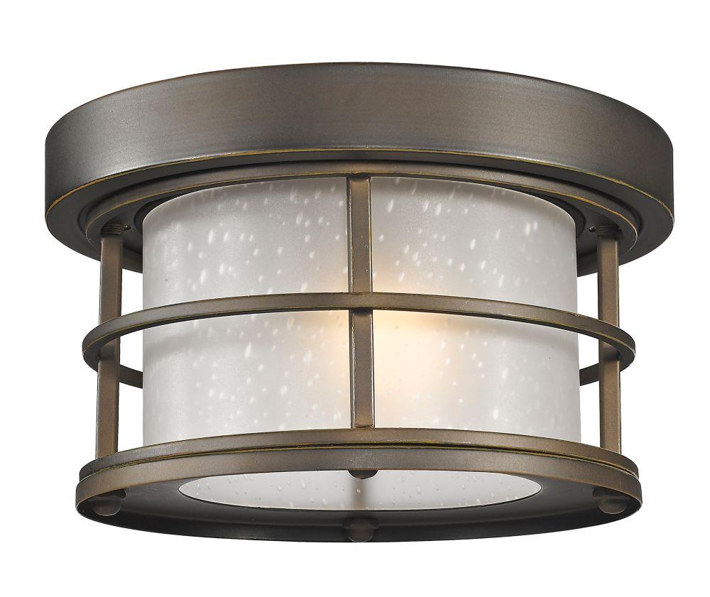Filament Design 1-Light Oil Rubbed Bronze Outdoor Flush ...