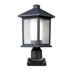 Filament Design 1-Light Oil Rubbed Bronze Outdoor Pier Mount Light