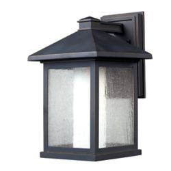 Filament Design 1-Light Oil Rubbed Bronze Outdoor Wall Sconce with Clear Seedy and Matte Opal Glass - 10.625 inch