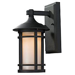 Filament Design Applique d'extérieur noire à 1 lumière avec verre opale mat, 7 po