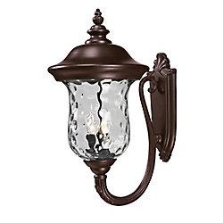 Filament Design Applique extérieure à 3 ampoules Bronze avec verre d'eau clair