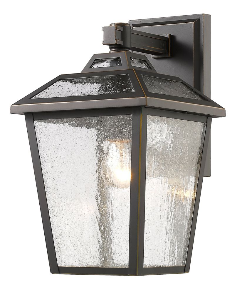 Filament Design 1-Light Oil Rubbed Bronze Outdoor Wall Sconce with Clear Seedy Glass - 8.88 inch