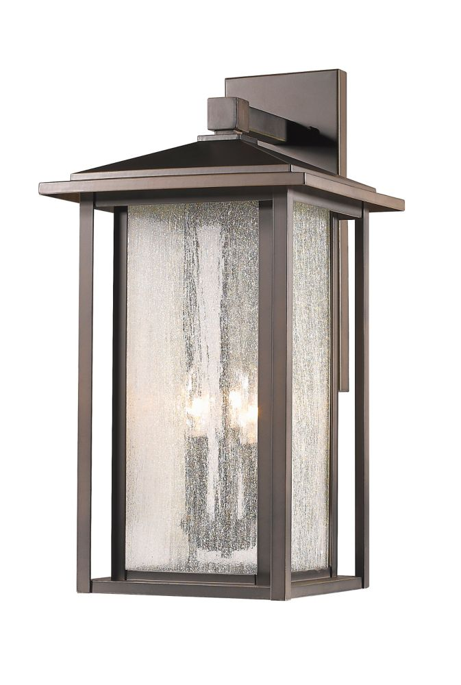 Filament Design 3-Light Oil Rubbed Bronze Outdoor Wall Sconce with Clear Seedy Glass - 11 inch