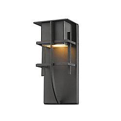 Filament Design Applique murale d'extérieur noire à 1 lumière, 3,88 po