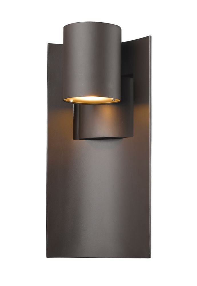 1-Light Deep Bronze Outdoor Wall Sconce - 5.13 inch