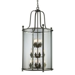 Filament Design 12-Light Bronze Pendant with Clear Glass - 21.5 inch
