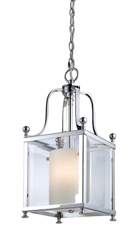 Pouces 8 Transparent Au Et Opale À Verre Ampoules Fini Luminaire Suspendu Biseauté Avec 3 Chrome 25 PkiuXOZT