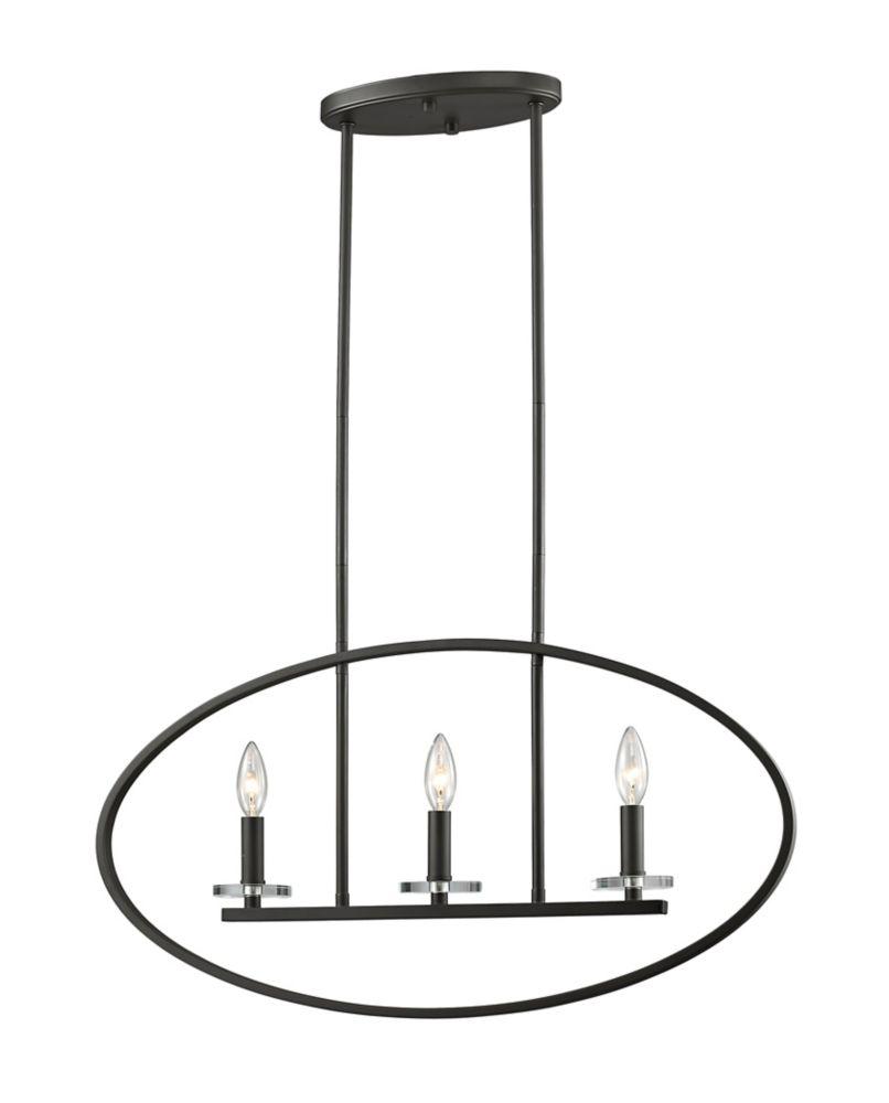 Filament Design 3-Light Bronze Pendant - 28 inch
