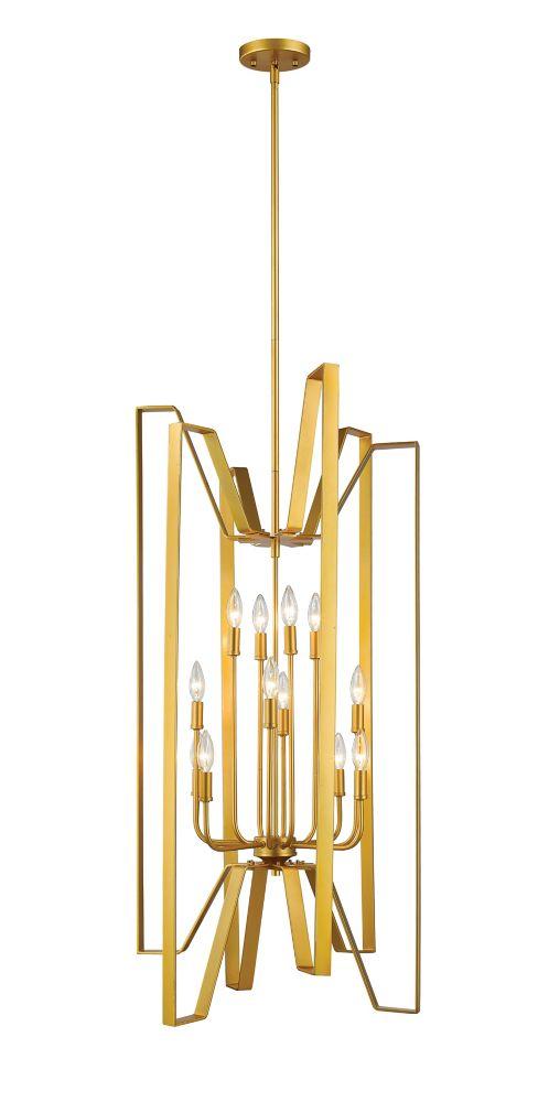 Filament Design 12-Light Polished Metallic Gold Pendant - 22 inch