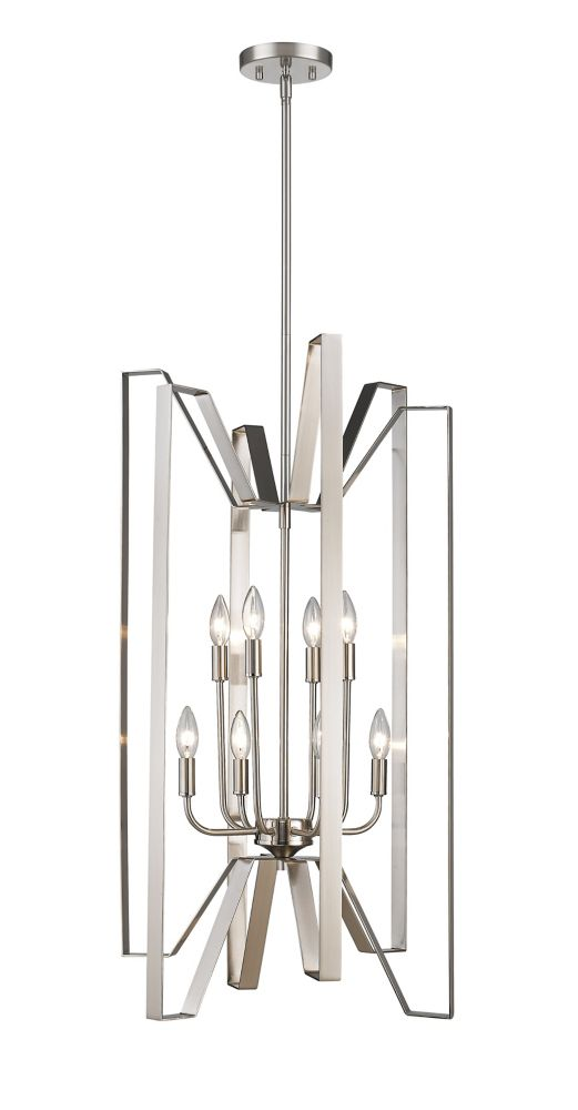 Filament Design 8-Light Brushed Nickel Pendant - 19 inch