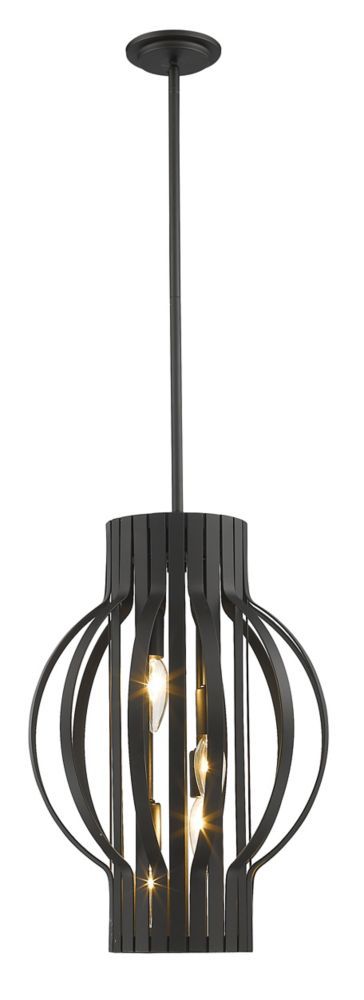 Filament Design 4-Light Bronze Pendant - 16 inch