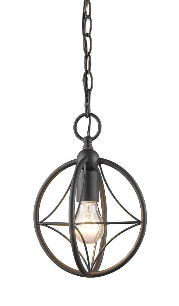 Filament Design 1-Light Bronze Pendant with Bronze Steel Shade - 8 inch