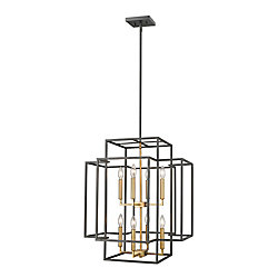 Filament Design Suspension à 8 lampes, bronze et laiton - 22 pouces