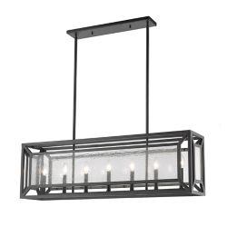 Filament Design Luminaire suspendu à 7 lumières avec verre transparent à fines gouttes - 42,1 pouces