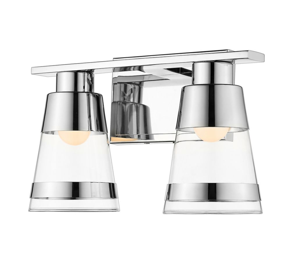 Filament Design 2-Light Chrome Vanity with Clear Glass - 5.6 inch