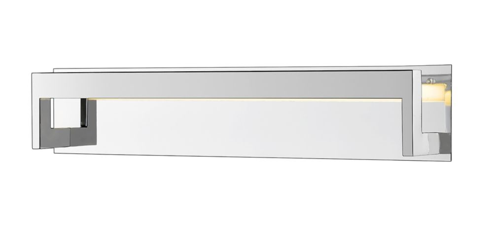Filament Design 1-Light Chrome Vanity with Frosted Acrylic Shade