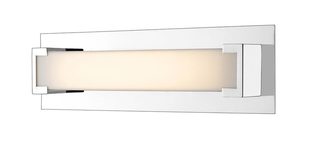 Filament Design 1-Light Chrome Bath Vanity with Frosted Acrylic Shade