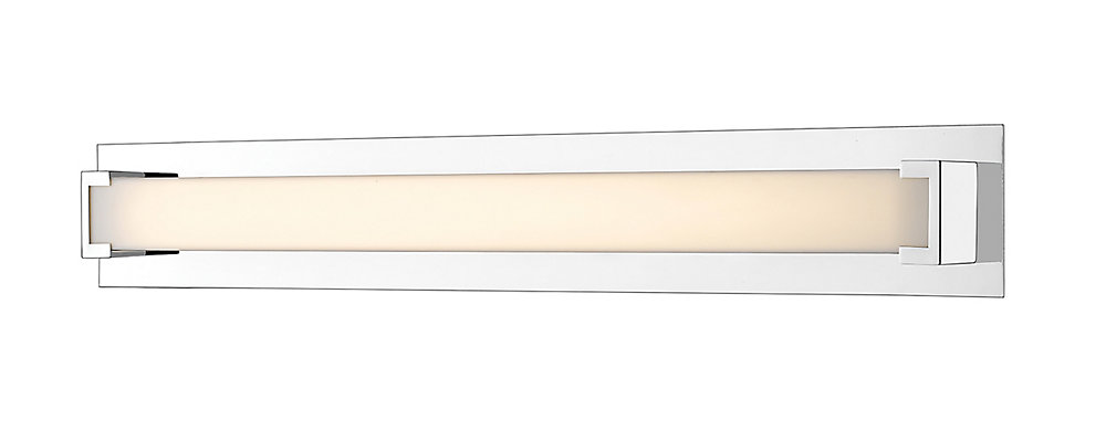 1-Light LED Chrome Vanity with Frosted Acrylic Shade - 2 3 inch
