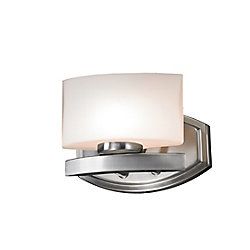 Filament Design 1-Light Brushed Nickel Vanity with Matte Opal Glass - 5.5 inch
