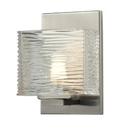 Filament Design 1-Light Brushed Nickel Vanity with Clear Glass - 3.75 inch