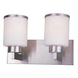 Filament Design 2-Light Brushed Nickel Bath Vanity with Matte Opal Glass - 7 inch