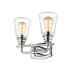 Filament Design 2-Light Chrome Vanity with Clear Glass - 6 inch