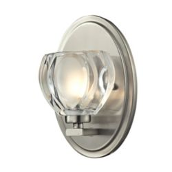 Filament Design 2-Light LED Chrome Vanity with Clear Crystal Accents - 3.54 inch