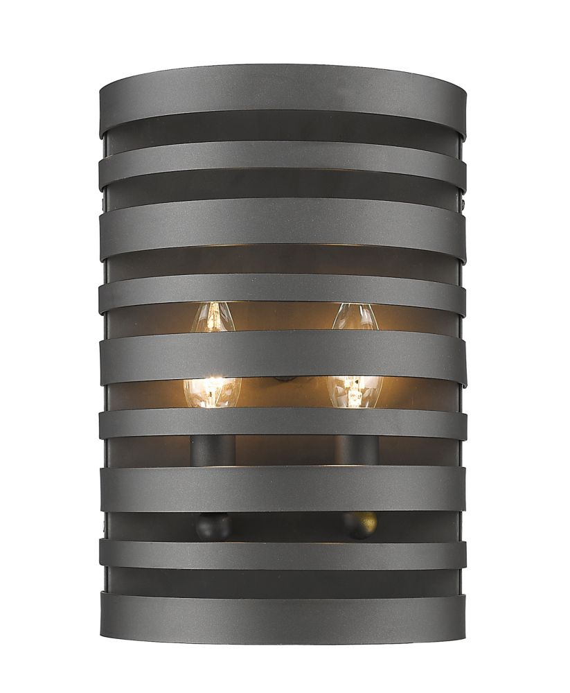 Filament Design 2-Light Bronze Wall Sconce - 4 inch