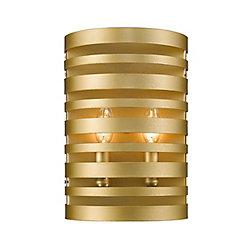 Filament Design 2-Light Satin Gold Wall Sconce - 4 inch