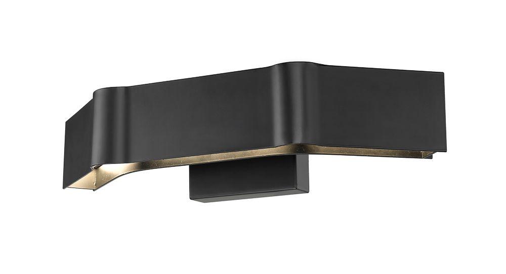 Filament Design 3-Light Matte Black Wall Sconce - 5 inch