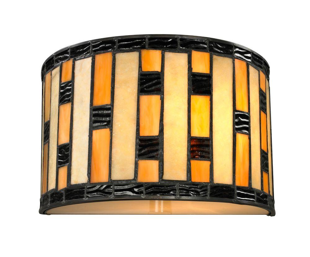 Filament design applique murale à ampoule java bronze avec verre