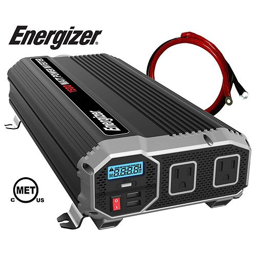 Energizer 1500 Watt 12V DC to 120V AC Power Inverter